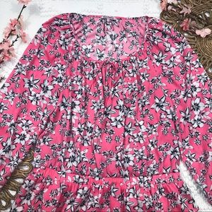 Juicy Couture Pink Floral Print Dress